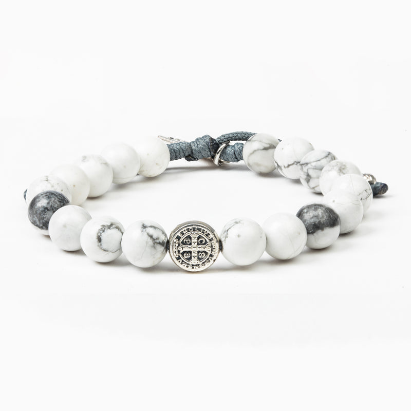 Peace Howlite Gemstone Beaded Power Blessing Bracelet