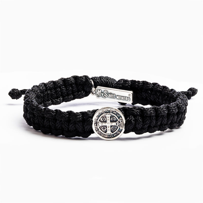 One Blessing Bracelet for him on man holding surfboard at beach