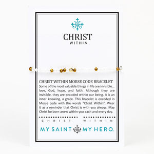 Christ Within Morse Code Bracelet