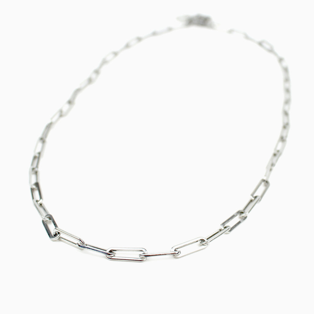 Iron Based Stainless Steel Renewal Consecration Chain Necklace Silver