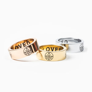 Greatest Love Deuteronomy 6:5 Ring in silver, gold and rose gold tone stainless steel