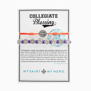 Collegiate Blessing Bracelet Orange Serenity Purple Benedictine 