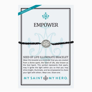 Empower Seed of Life Illuminate Bracelet - Silver