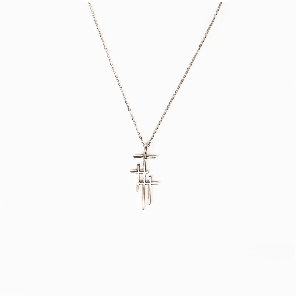 Faithful Light Three Cross Necklace