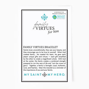 Family Virtues Bracelet for Him