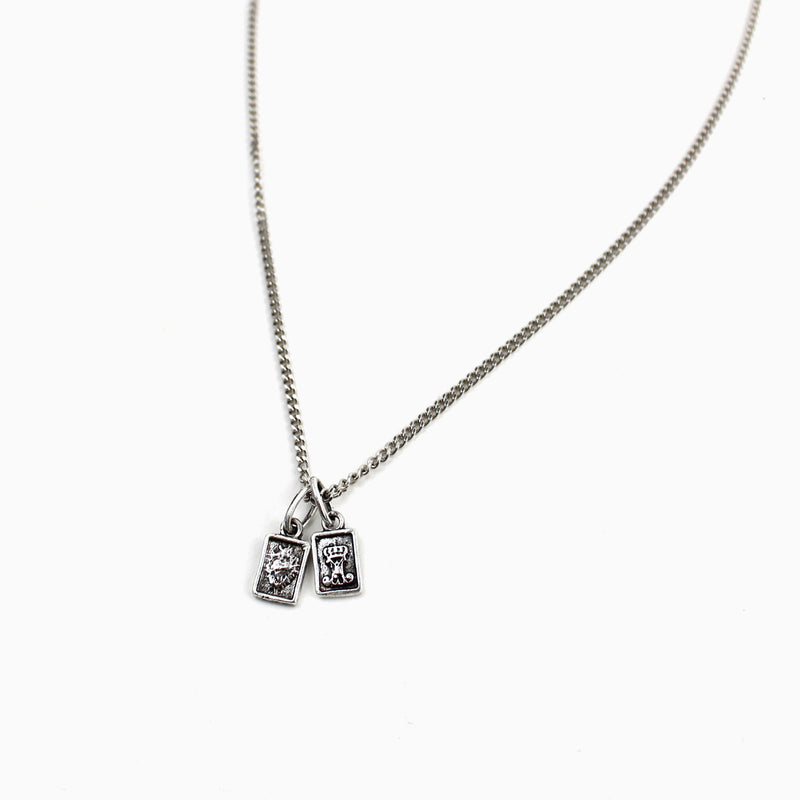 Garment of Grace Petite Dainty Scapular Necklace - Sterling Silver