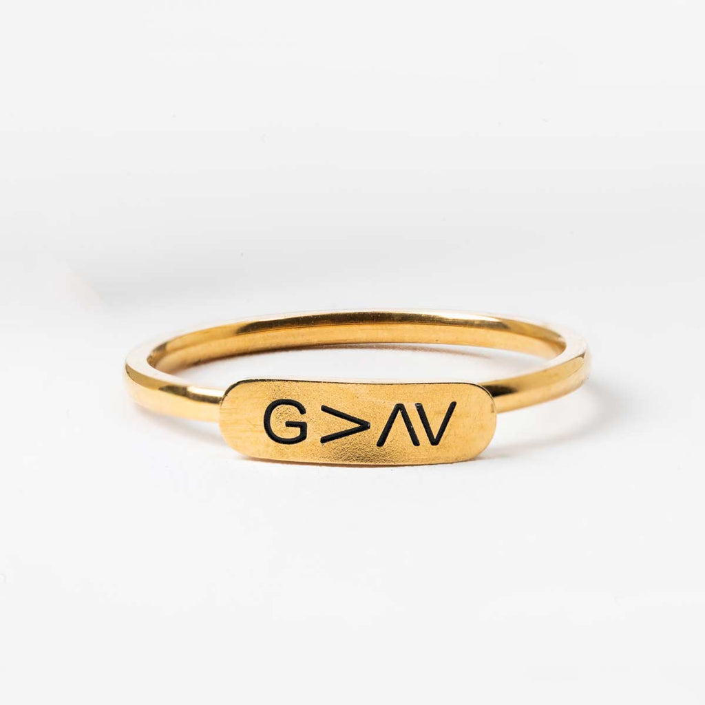 God is Greater Than Your Ups and Downs Ring