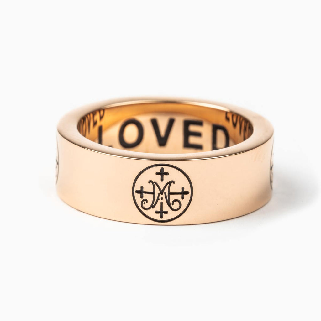 Greatest Love Deuteronomy 6:5 Ring in Rose Gold