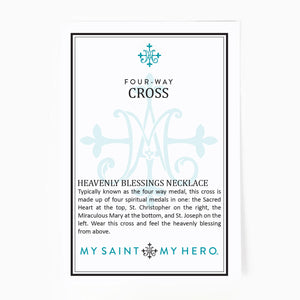 Heavenly Blessings Dainty Cross Necklace