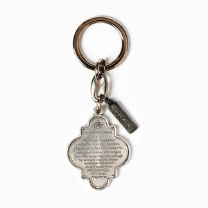 Archangel Michael Armor of Protection Keyring - Prayer to Archangel Michael