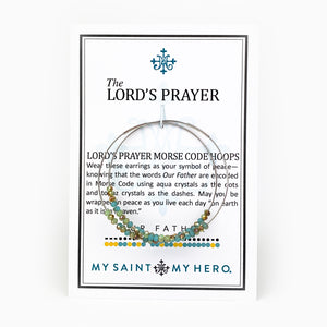 Lord's Prayer Morse Code Hoops on Card