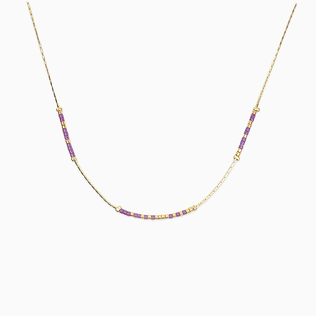 LSU Geaux! Morse Code Necklace