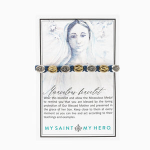 Miraculous Mary Blessing Bracelet on Inspirational Card