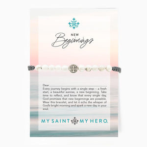 New Beginnings Customizable Gifting Inspirational Blessing Bracelet Card