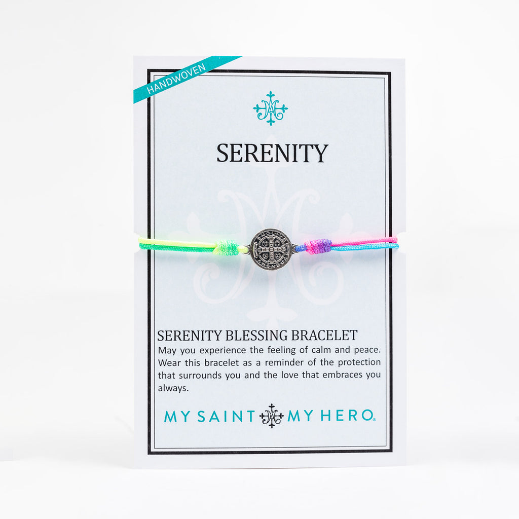 New Day Serenity Rainbow Blessing Bracelet on Inspirational Card