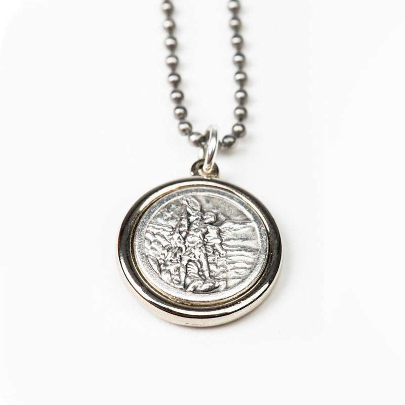 Archangel Michael & Saint Christopher Protection Armor of Faith Necklace - Bead Ball Chain