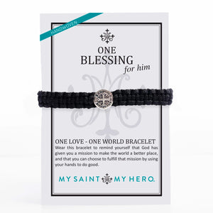 One Love One World Blessing Bracelet for Him