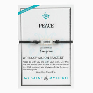 Peace - Words of Wisdom Bracelet