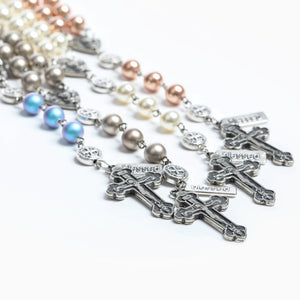 Rosary of Love with Crystal Pearls