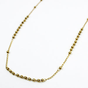 Rosary Necklace Gold Stainless Steel Chain and Beads