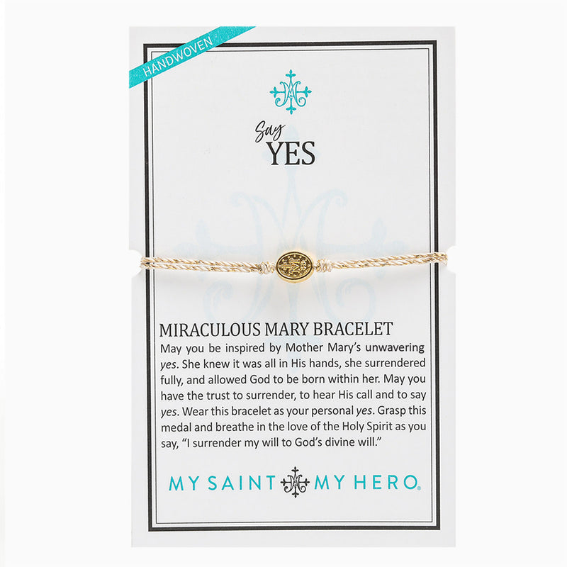 Say Yes Miraculous Mary Bracelet