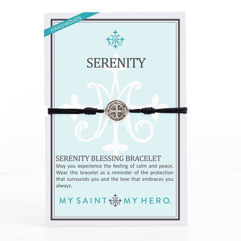 Serenity Saint Benedict Medal Blessing Bracelet in summer colors