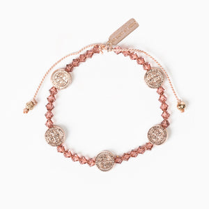Share the Love St. Amos Love Premium Crystal Bracelet - blush pink and rose gold