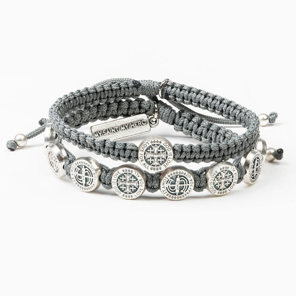 StAmos Share the Love Bracelet Set Slate/Silver Wear One and Share One