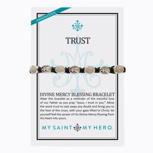 Divine Mercy Blessing Bracelet on an Inspirational Card