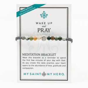 WAKE UP AND PRAY  Mixed Agate | Spiritual Protection