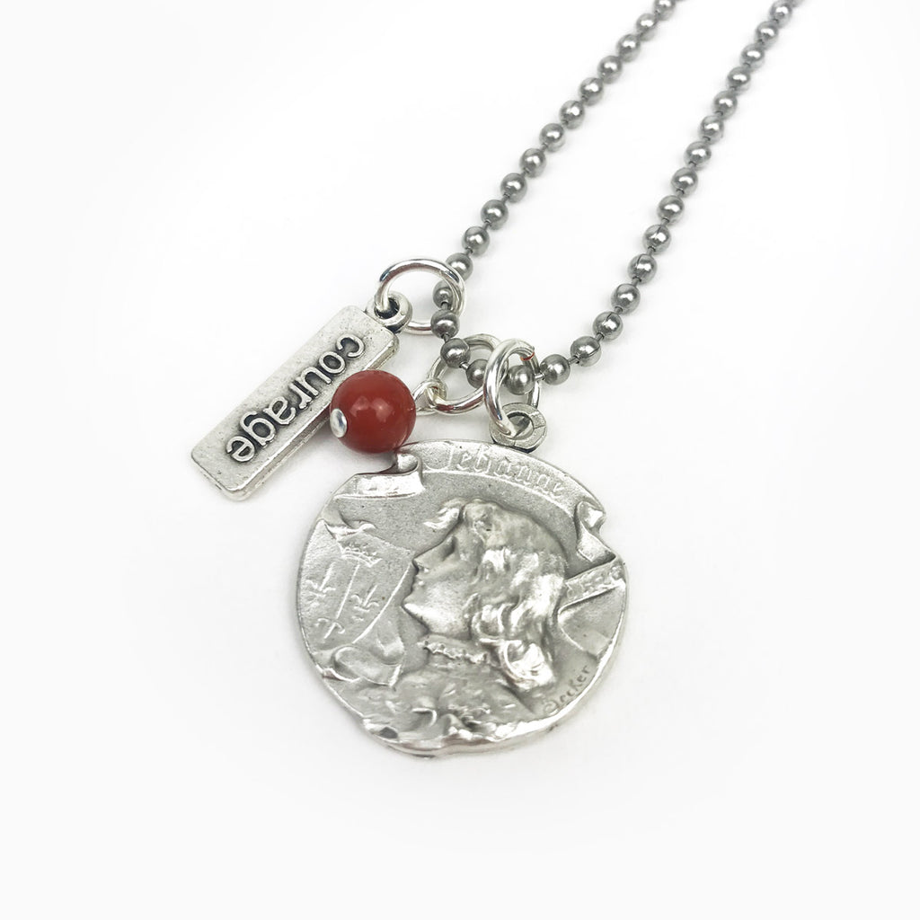 Joan of Arc Women Warriors Necklace - Together We Rise