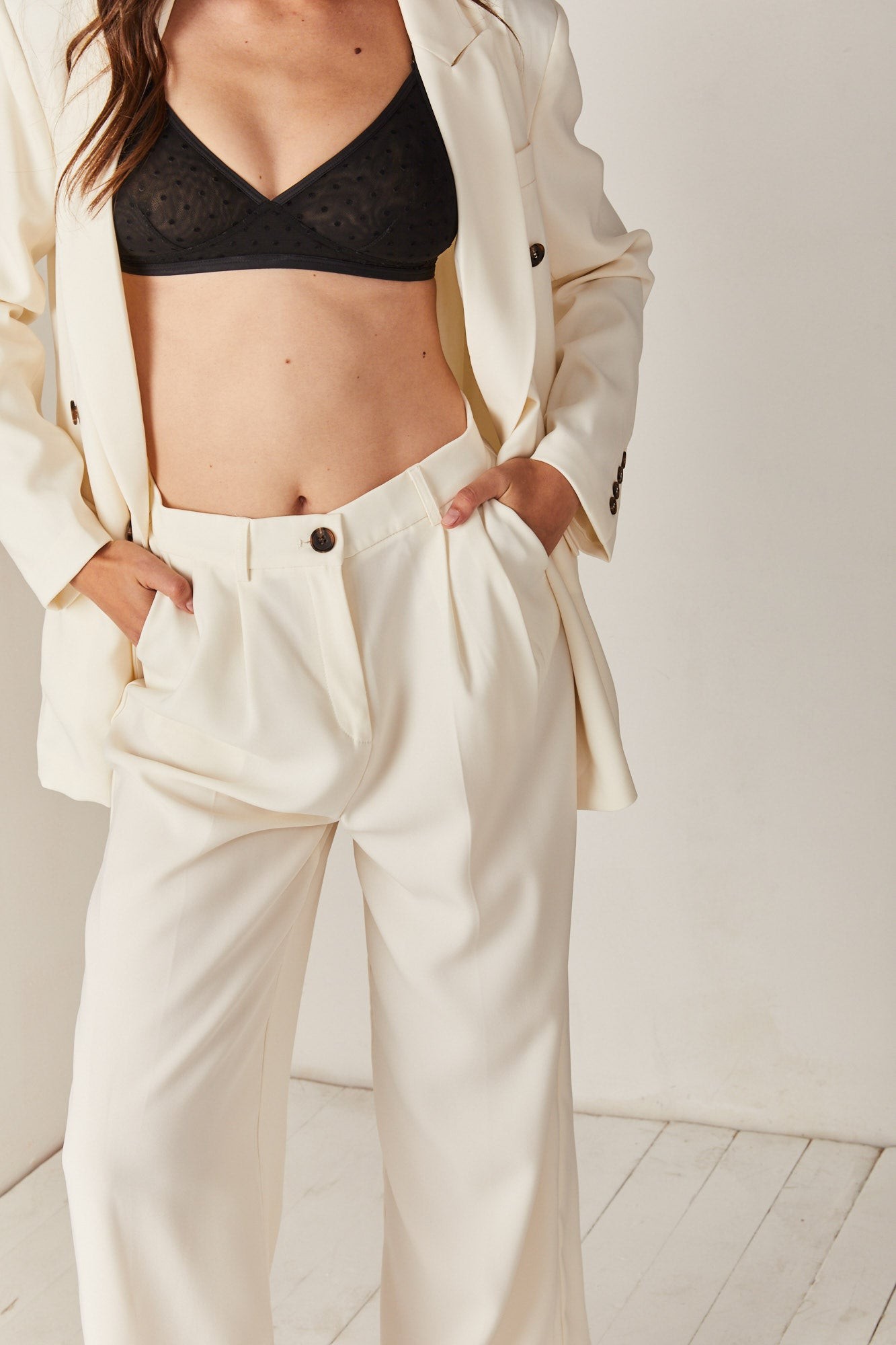 White Suit Pants