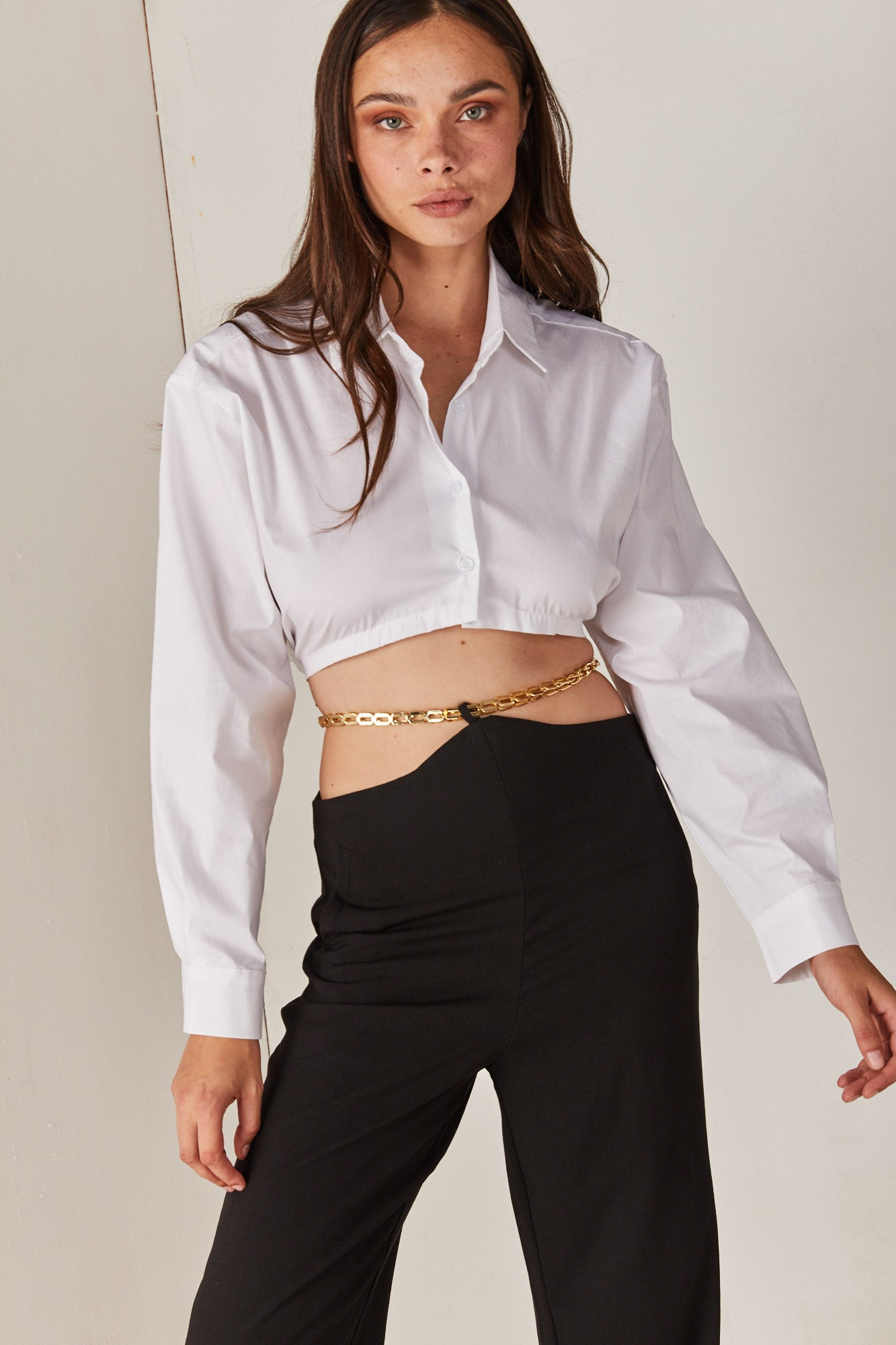 White Crop Blouse
