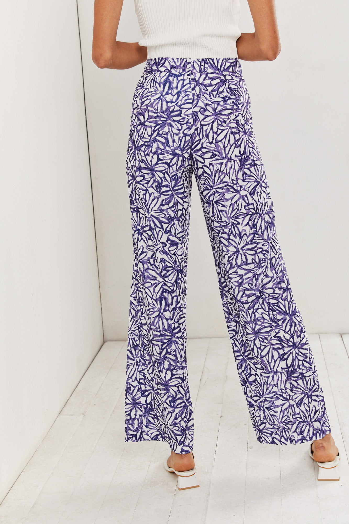 Blue Flowers Pants