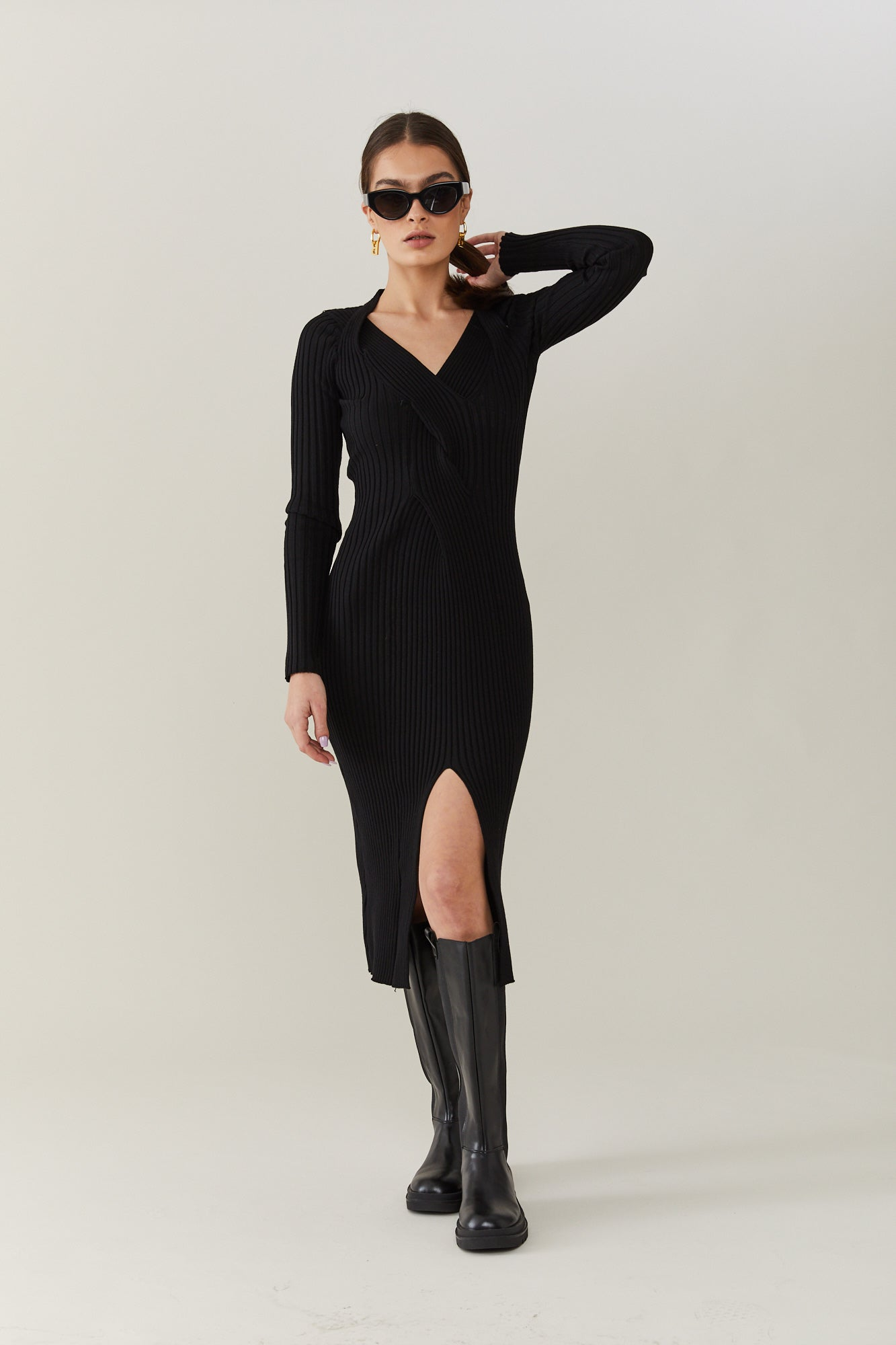 Black Rubi knit dress