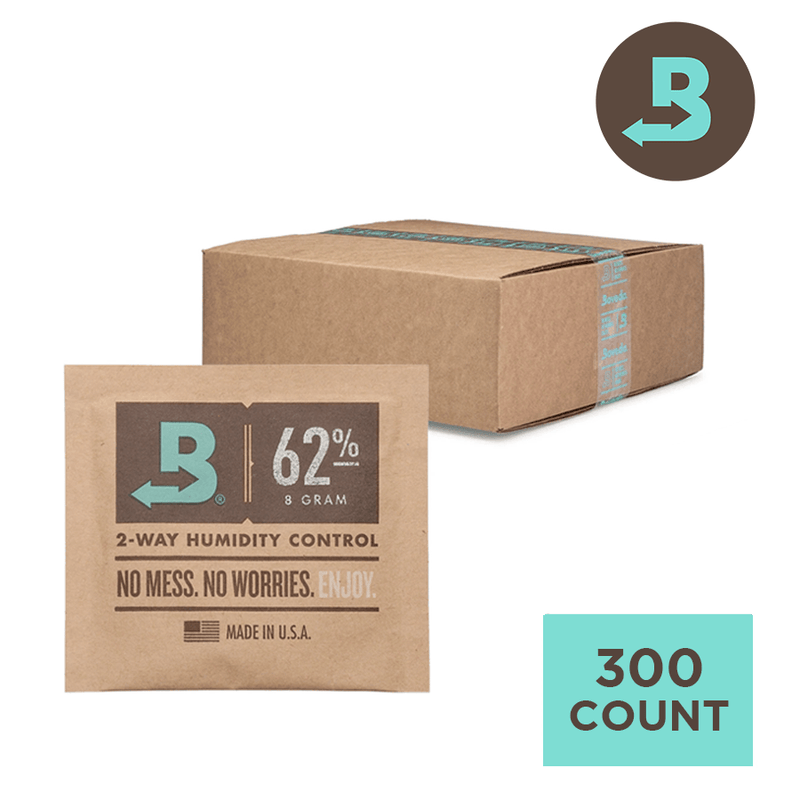 Boveda 62% 8g - Individually Wrapped Bulk - Carton of 300