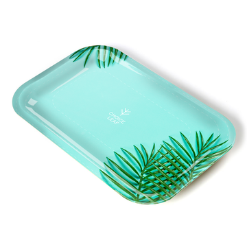 Choice Leaf Medium Rolling Tray - Mint Palm
