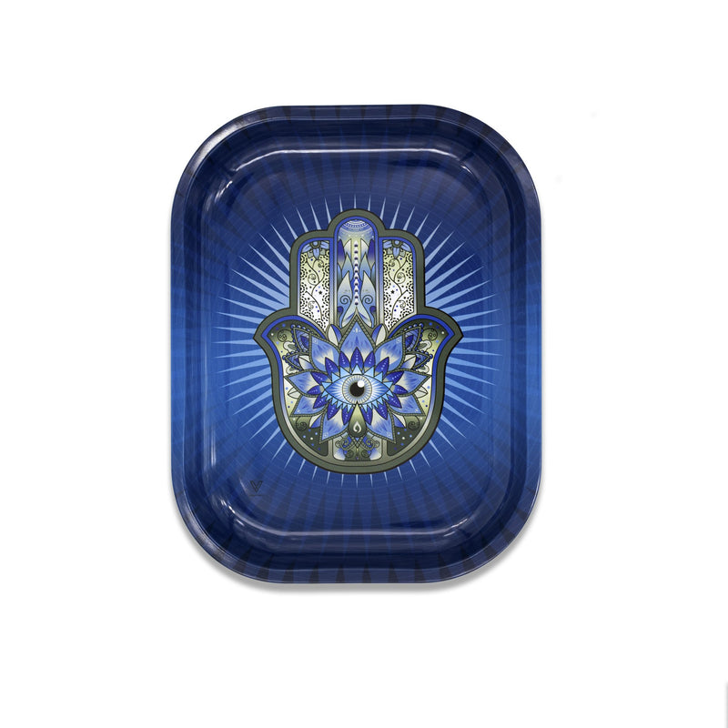 Small Rolling Tray - Hamsa Blue