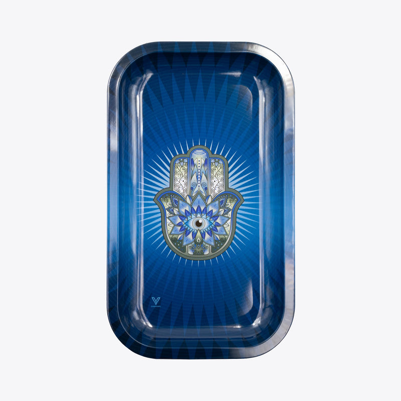 Medium Rolling Tray - Hamsa Blue