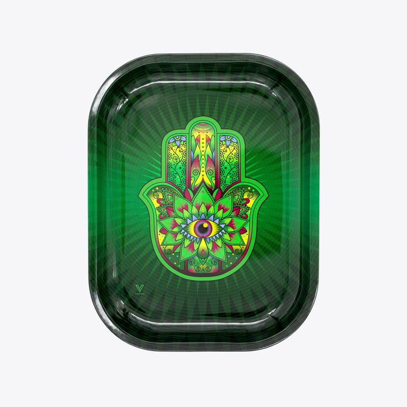 Small Rolling Tray - Hamsa Green