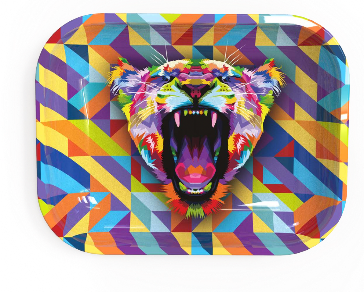 Small Rolling Tray - Multi Lioness