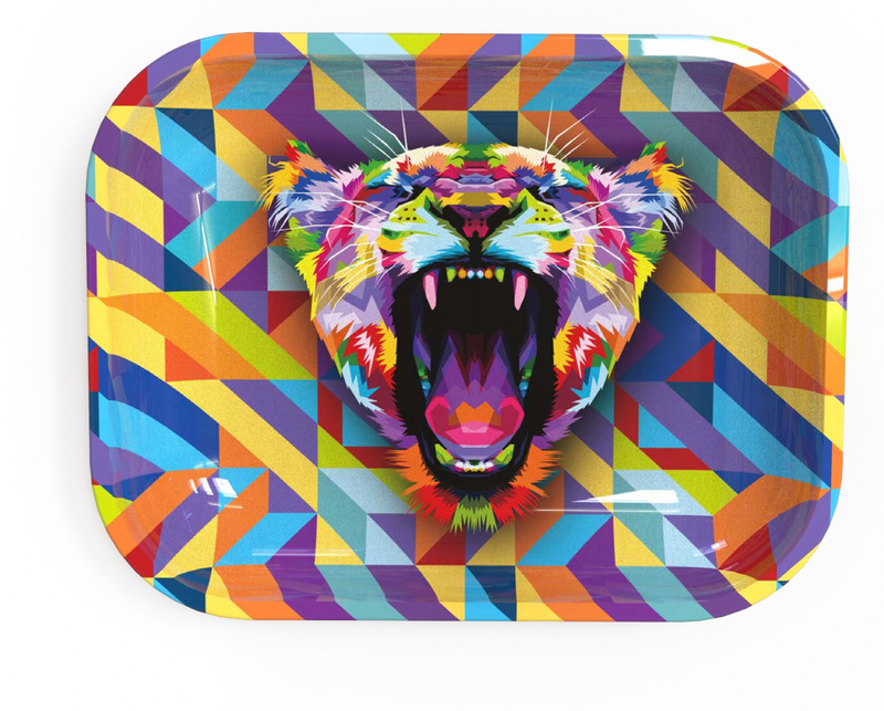 Medium Rolling Tray - Multi Lioness