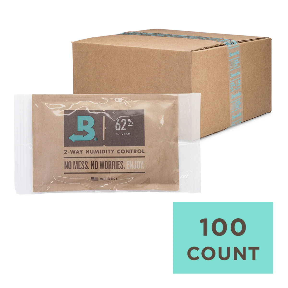 Boveda 58% 67g - Individually Wrapped Bulk - Carton of 100
