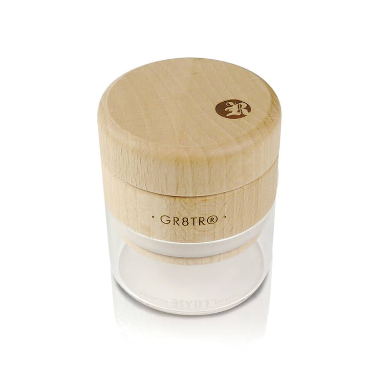 RYOT - Beech Wood GR8TR Grinder with Jar Body (Clear)