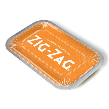 Zig-Zag Metal Rolling Tray - Small - Since 1879 (Orange)
