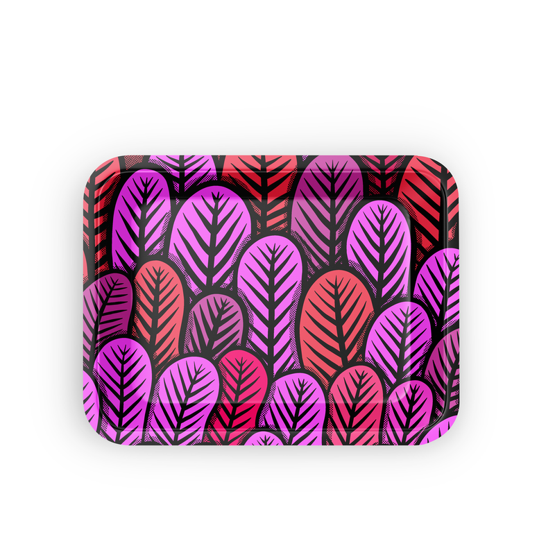 Small Rolling Tray - Pink Leaf