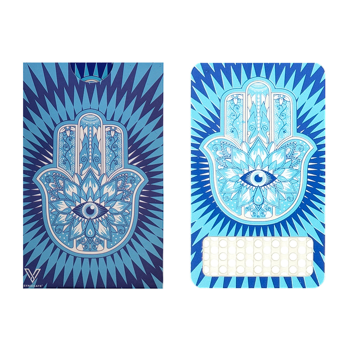 Color Grinder Card Hamsa Blue