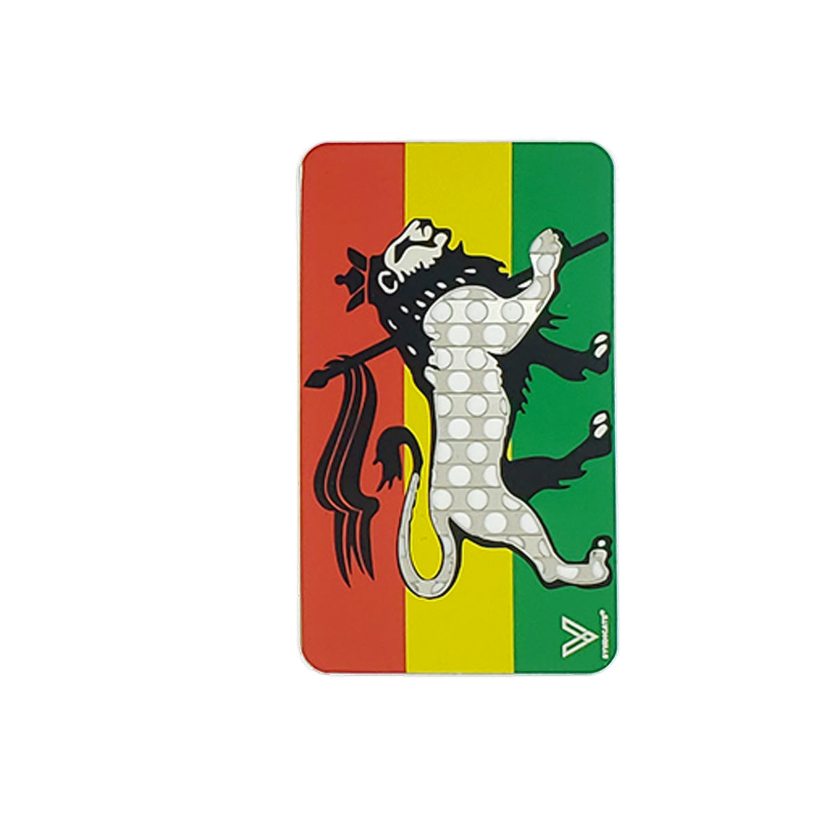 Color Grinder Card Rasta Lion