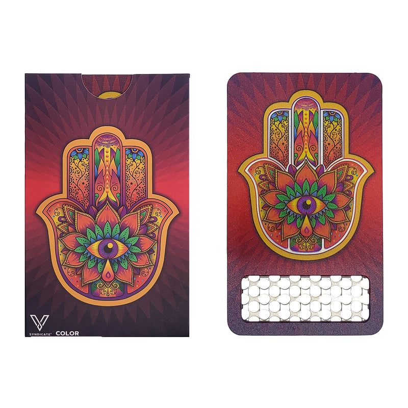 Color Grinder Card Hamsa Red