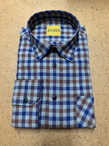 BLUE BROWN CK SHOP SHIRT